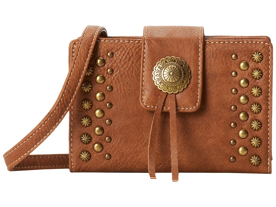 Image of American West - Game Girl Stadium Crossbody (Tan) Cross Body Handbags