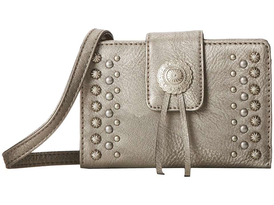 American West - Game Girl Stadium Crossbody (Silver) Cross Body Handbags