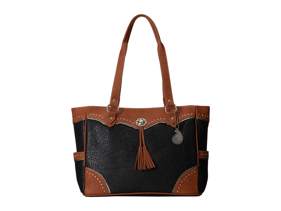 American West - Brecken Ridge Carry On Tote (Black/Golden Tate) Tote Handbags