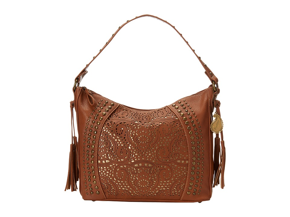 American West - Mesa Slouch Hobo Shoulder Bag (Tan/Gold) Shoulder Handbags