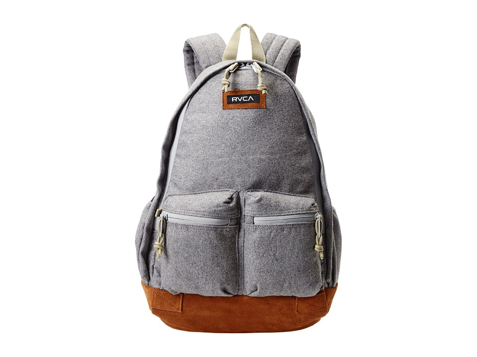 RVCA Crescent Backpack Grey Heather Backpack Bags