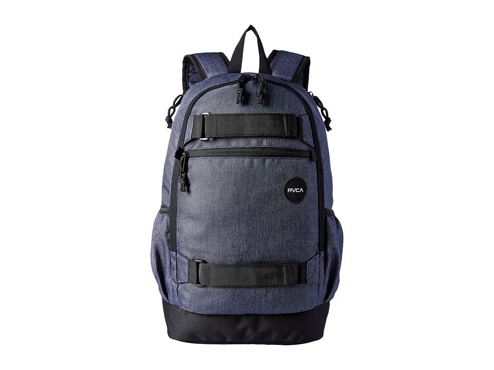 RVCA Push Skate Backpack Dark Charcoal Heather Backpack Bags