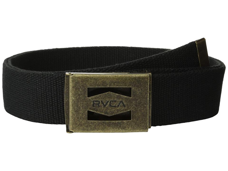 RVCA Hayes Scout Belt Black Mens Belts