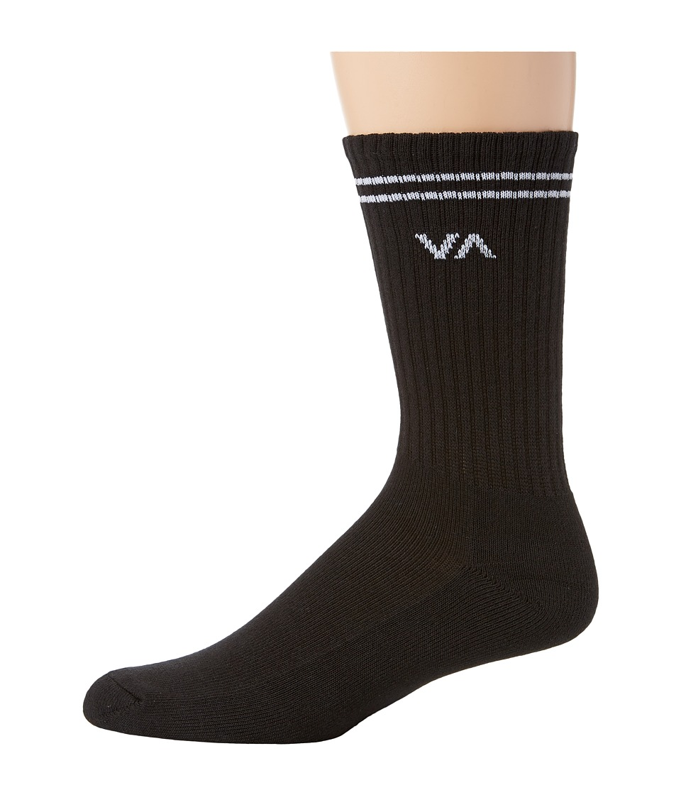 RVCA Union Sock III Black Mens Crew Cut Socks Shoes