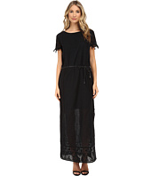Maison Scotch - Short Sleeve Embroidered Maxi Dress