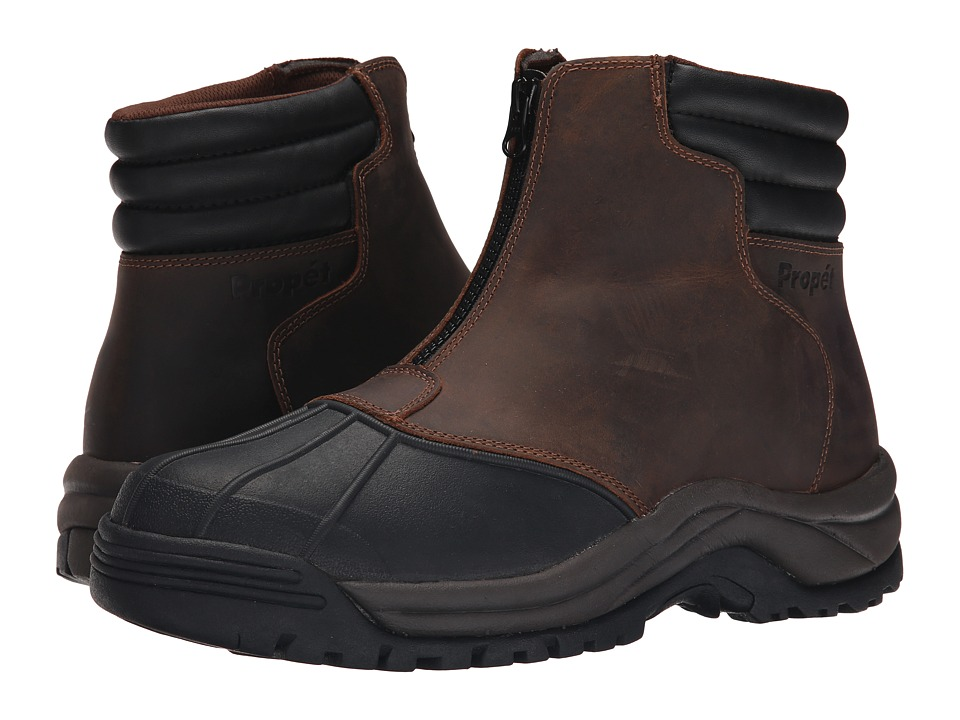 Propet Blizzard Mid Zip (Brown/Black) Men