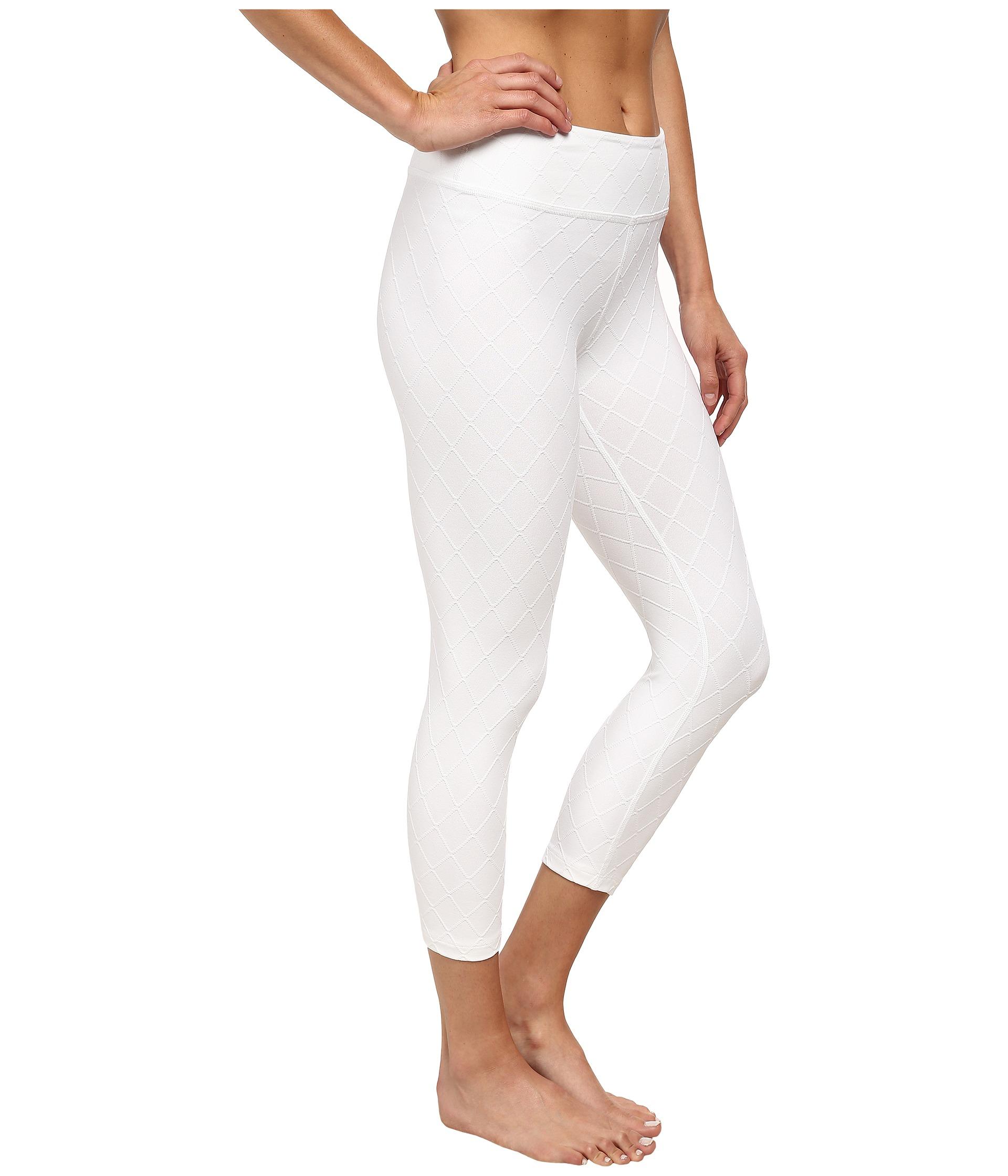 Beyond Yoga Quilted Capri Legging White