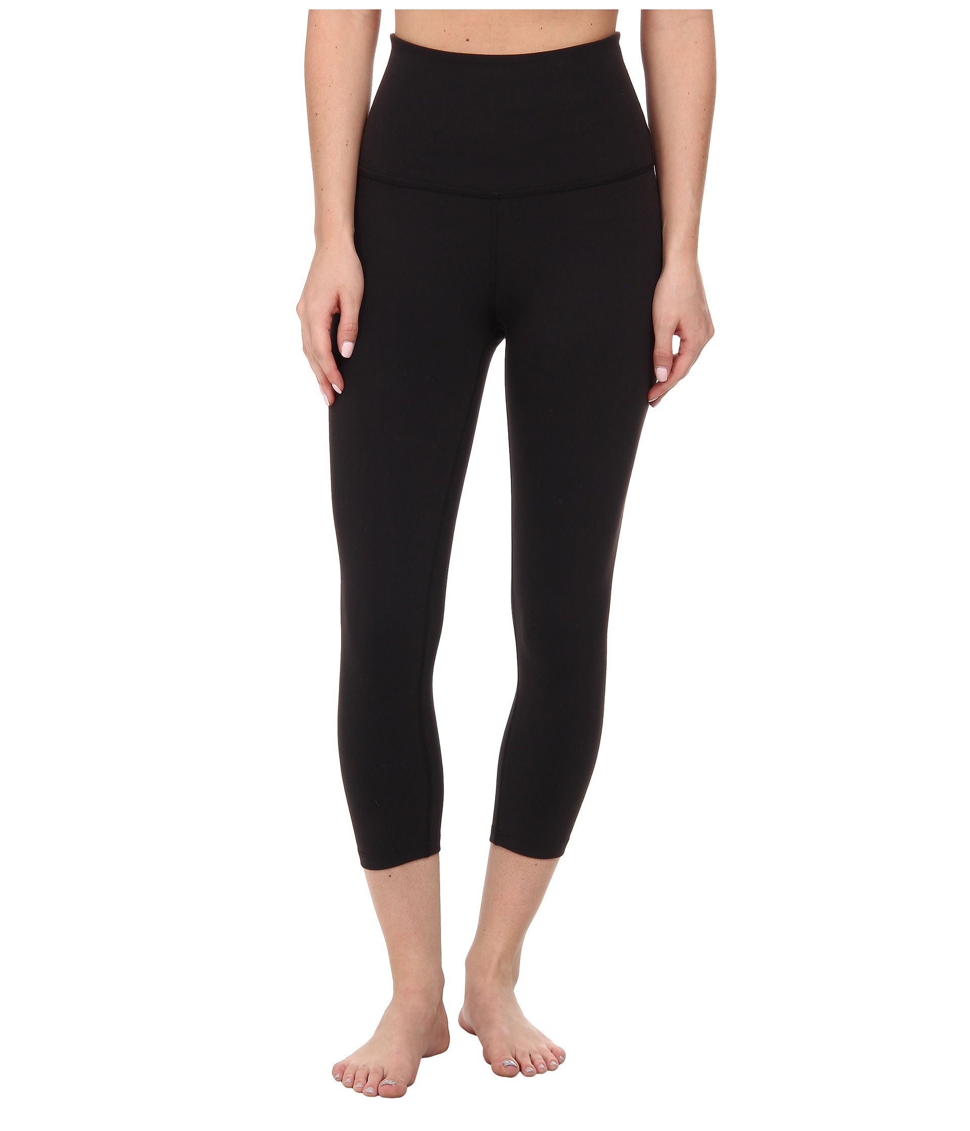 black high waisted capri pants - Pi Pants
