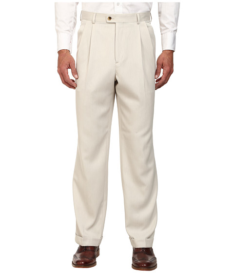 Perry Ellis Portfolio Classic Fit Double Pleat Micro-Melange Pant