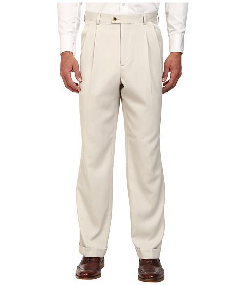 Perry Ellis Portfolio Classic Fit Double Pleat Micro-Melange Pant - Sand
