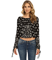 Free People - Printed Rayon Linen Jersey Dazed Top