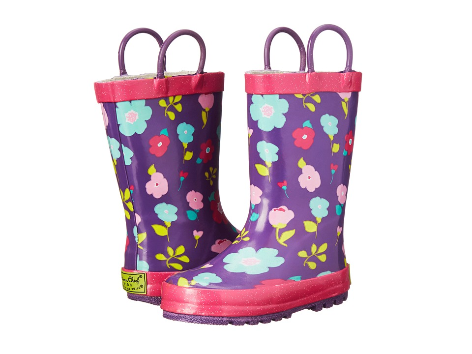 Western Chief Kids Lovely Floral Rainboots (Toddler/Little Kid/Big Kid) (Purple) Girls Shoes
