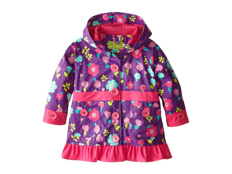 Western Chief Kids Lovely Floral Raincoat Toddler/Little Kid Purple Girls Coat