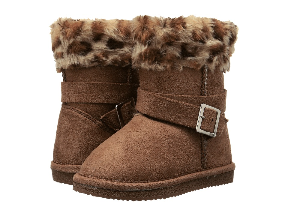 Western Chief Kids Belted Cuff Bootie (Toddler/Little Kid) (Wheat Leopard) Girls Shoes