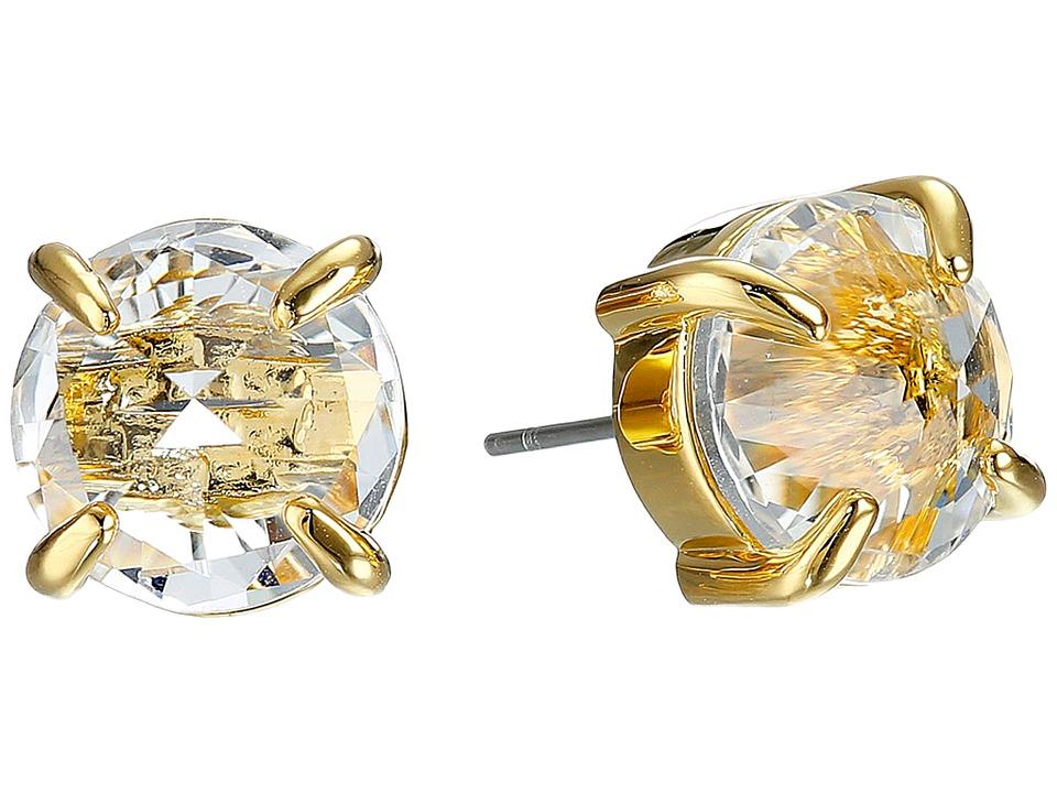 Vince Camuto Rivoli Stud Earrings Gold/Crystal Earring