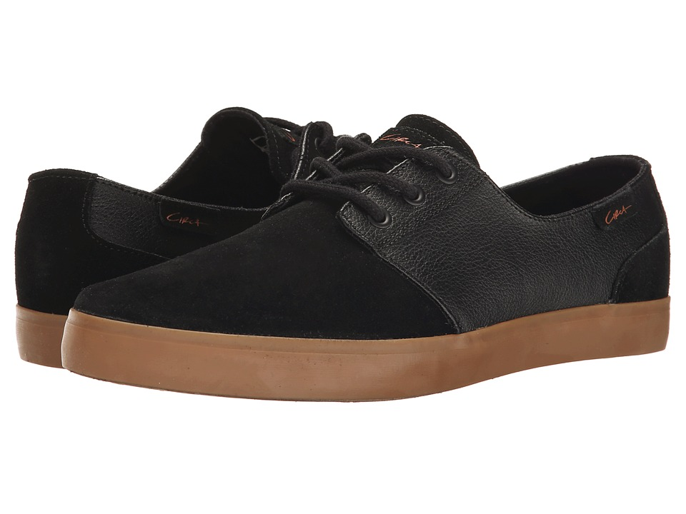Circa Crip Black/Black/Gum Mens Skate Shoes