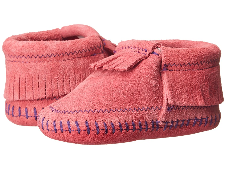 Minnetonka Kids - Riley Bootie (Infant/Toddler) (Hot Pink) Girls Shoes