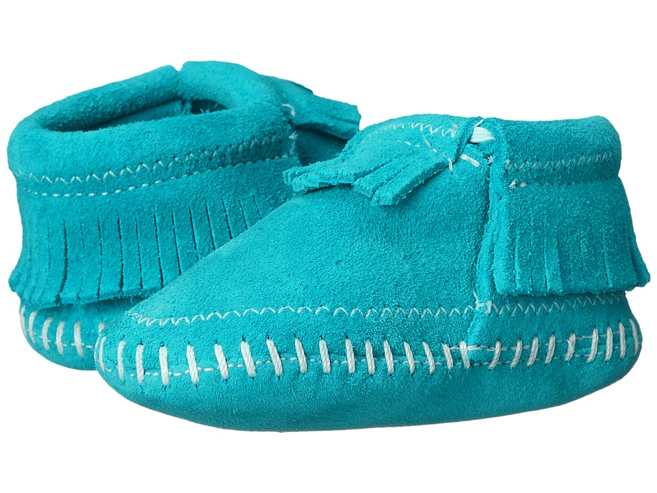 Minnetonka Kids Riley Bootie Infant/Toddler Turquoise Girls Shoes