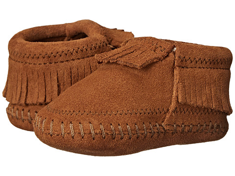 Minnetonka Kids Riley Bootie (Infant/Toddler) - Brown