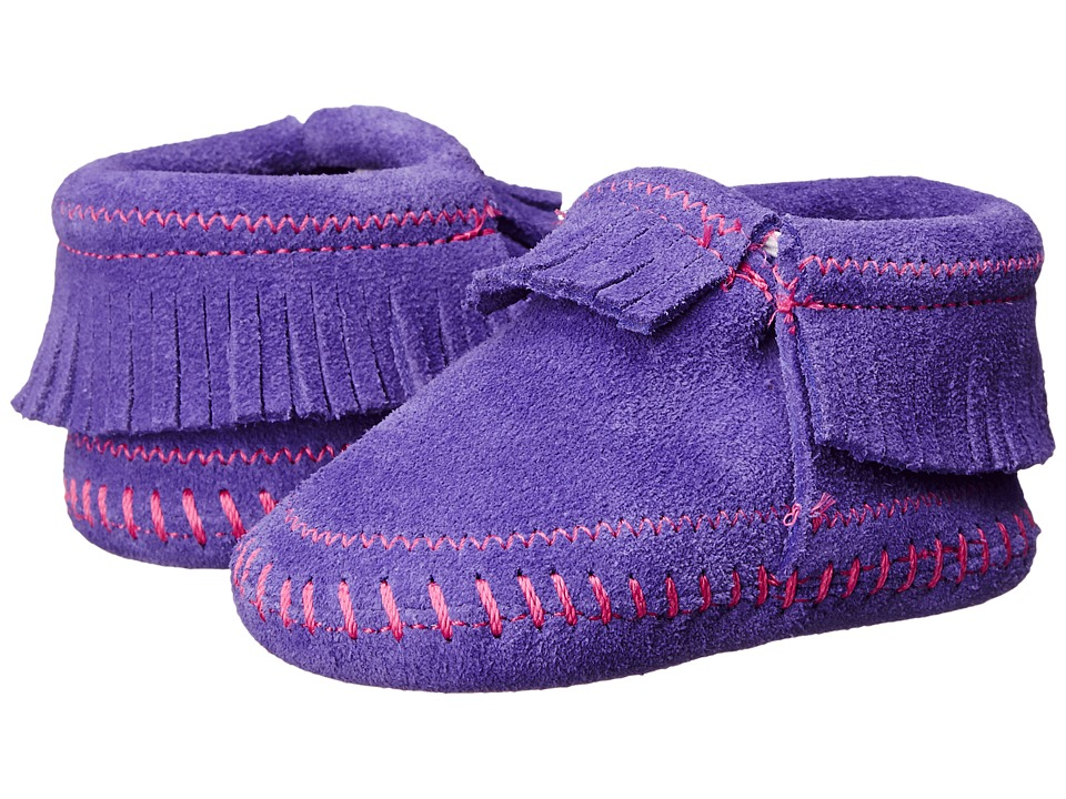 Minnetonka Kids Riley Bootie Infant/Toddler Purple Girls Shoes
