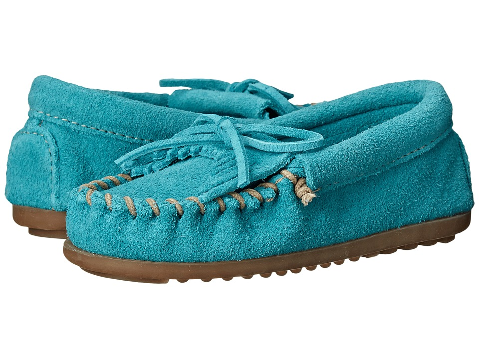 Minnetonka Kids Kilty Moc Toddler/Little Kid/Big Kid Turquoise Girls Shoes