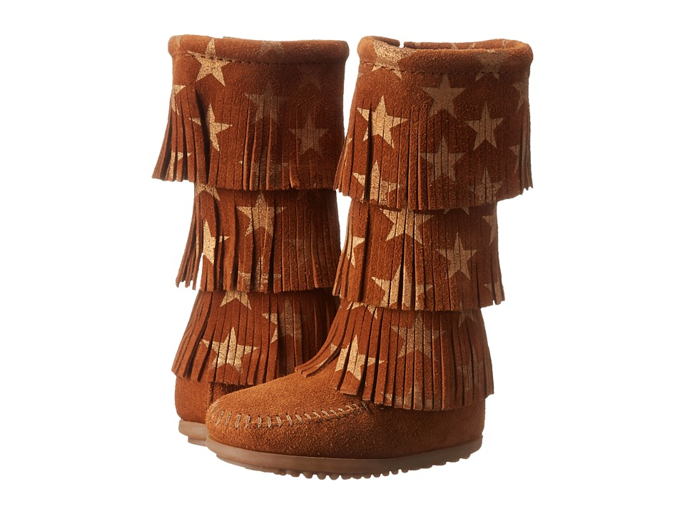Minnetonka Kids Star 3 Layer Boot Toddler/Little Kid/Big Kid Brown Girls Shoes