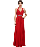 Adrianna Papell - Halter Shirred Stretch Tulle Gown