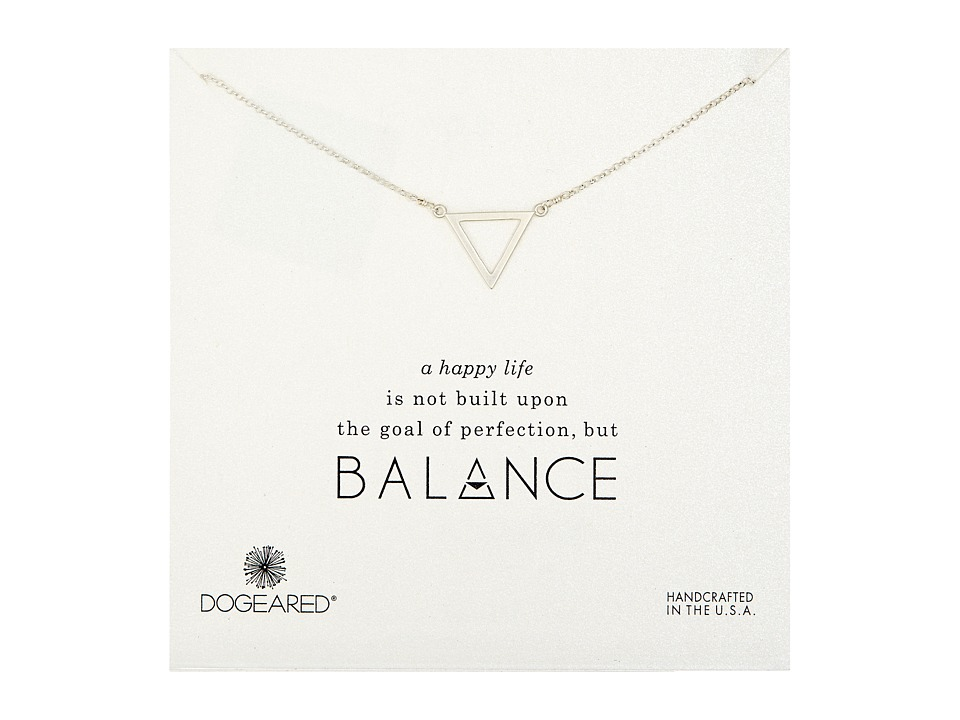 Dogeared Balance Large Open Triangle Necklace Sterling Silver Necklace