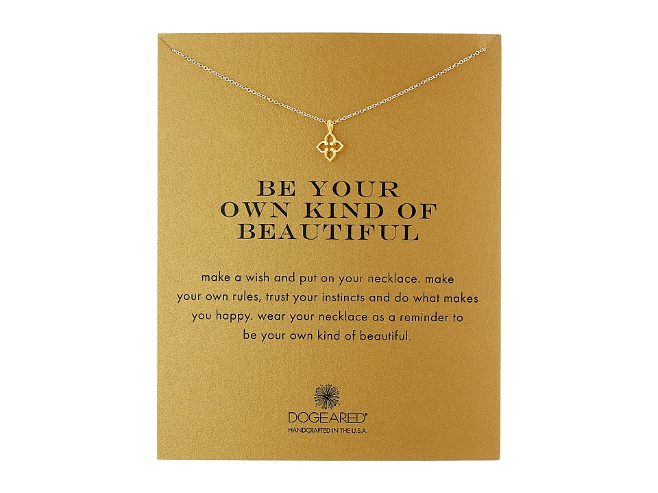 Dogeared Be Your Own Kind of Beautiful Necklace Gold Dipped Necklace