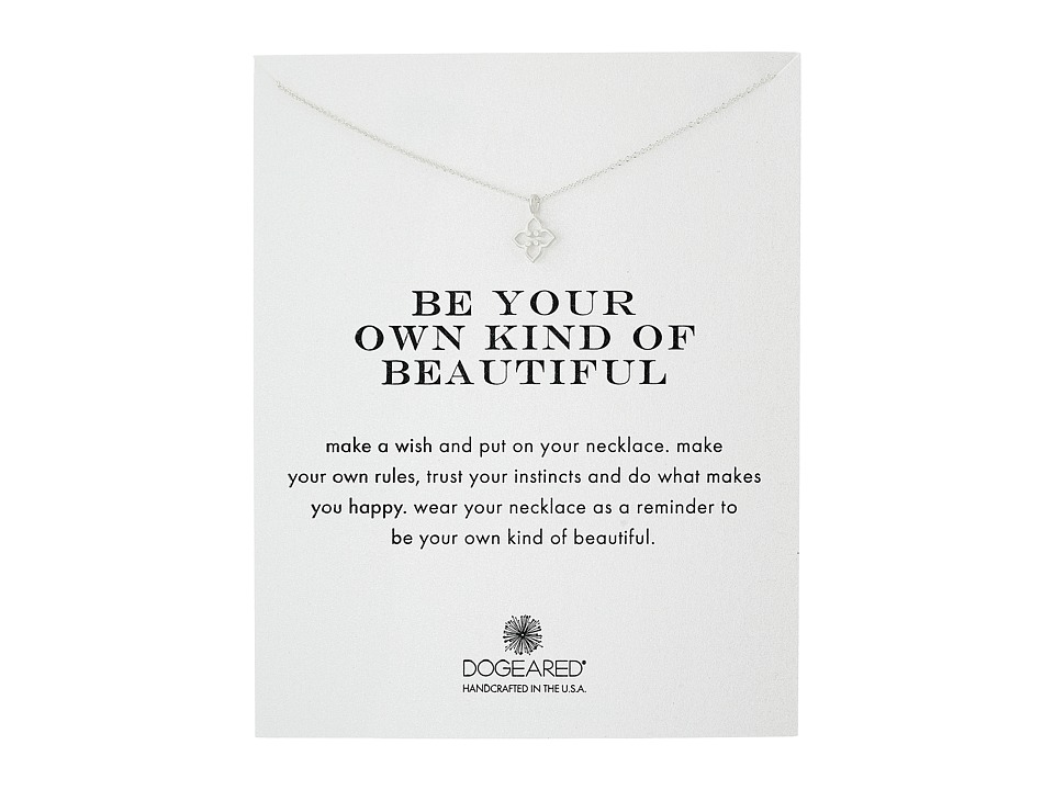 Dogeared Be Your Own Kind of Beautiful Necklace Sterling Silver Necklace