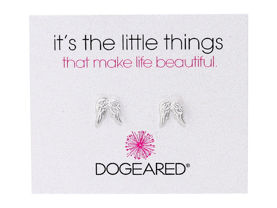 Dogeared Its The Little Things Teeny Angel Wings Earrings Sterling Silver Earring