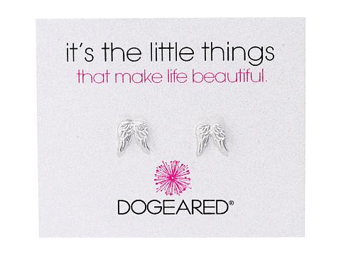 Dogeared It's The Little Things Teeny Angel Wings Earrings