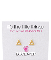 Dogeared - It's The Little Things Open Triangle Earrings