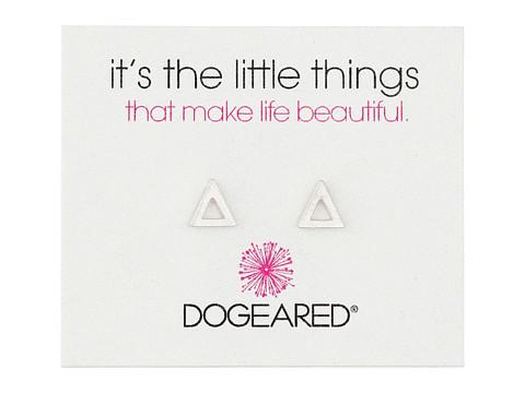 Dogeared It s The Little Things Open Triangle Earrings - Sterling Silver