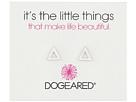 Dogeared It's The Little Things Open Triangle Earrings