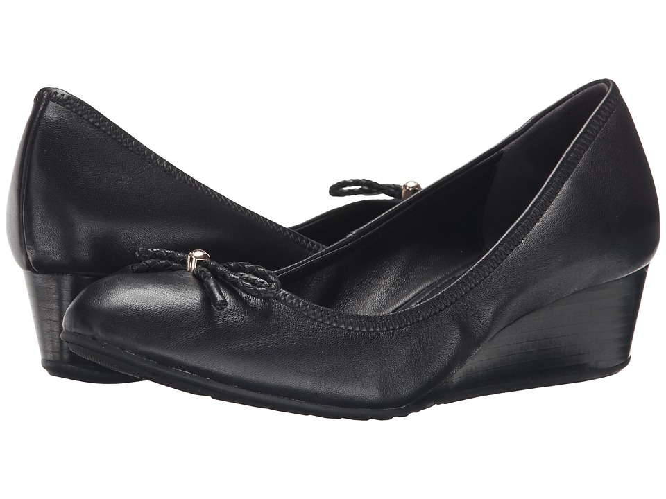 Cole Haan Tali Grand Lace Wedge 40 (Black) Slip-On Shoes