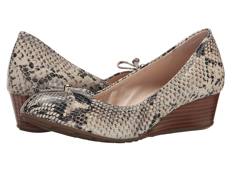 Cole Haan - Tali Grand Lace Wedge 40 (Sahara Snake Print) Women's Slip on  Shoes