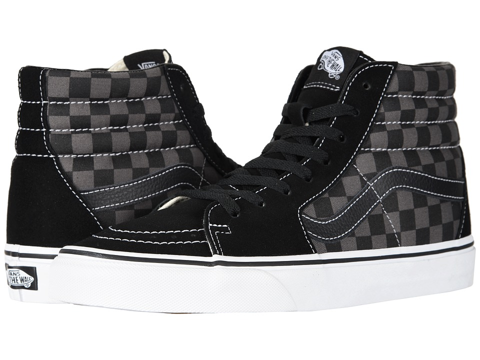 Vans SK8-Hi Core Classics ((Checkerboard) Black/Pewter) Shoes