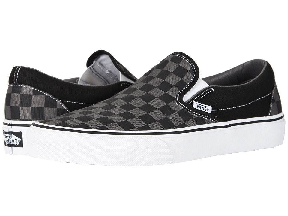 Vans Classic Slip-On Core Classics ((Checkerboard) Black/Pewter) Shoes