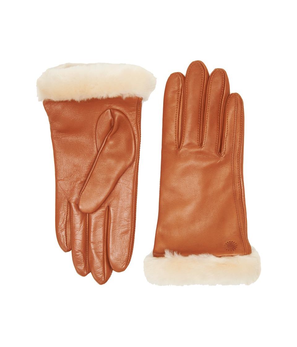 UGG Classic Leather Smart Glove (Chestnut) Dress Gloves