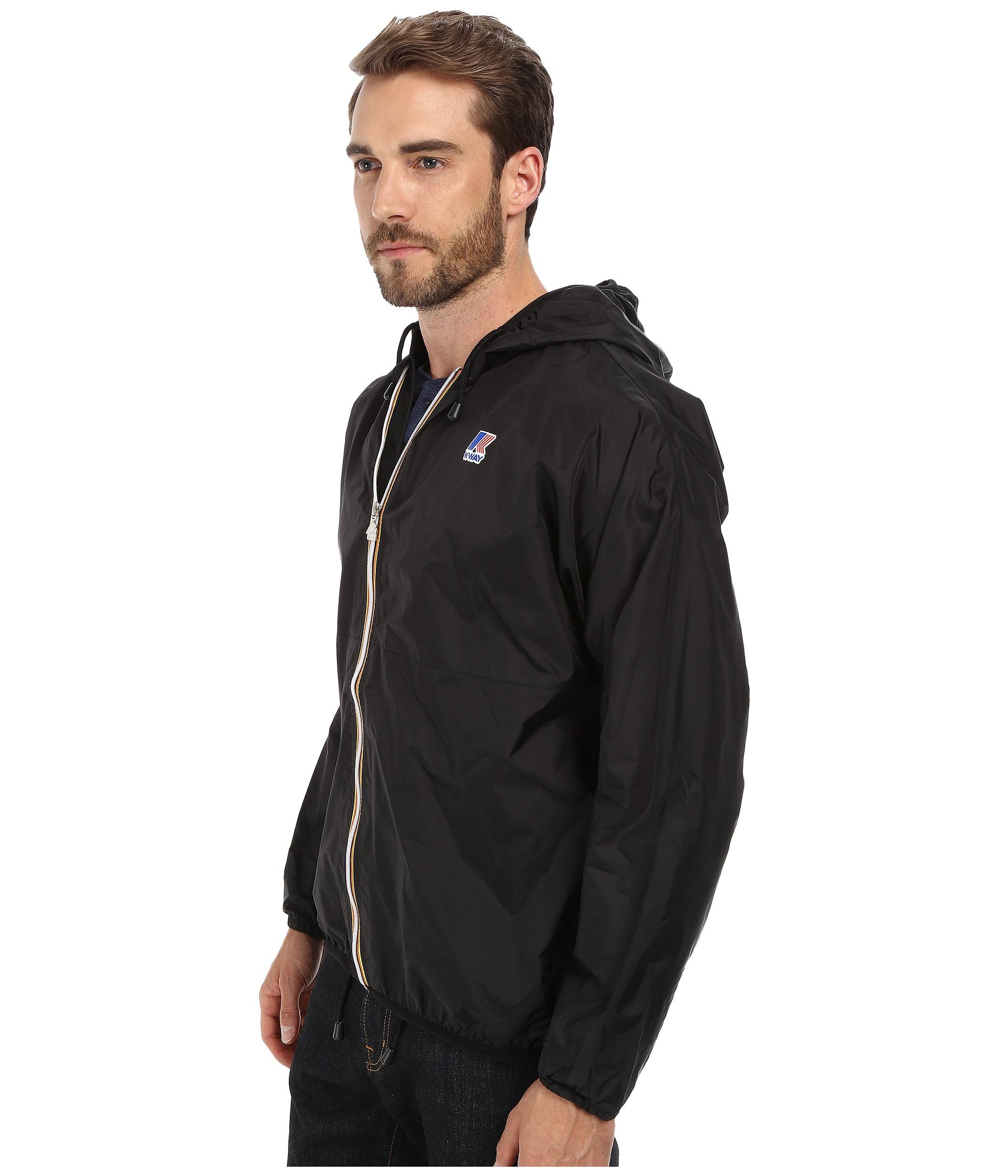 k way claude klassic waterproof jacket w hood black free shipping both ways. Black Bedroom Furniture Sets. Home Design Ideas