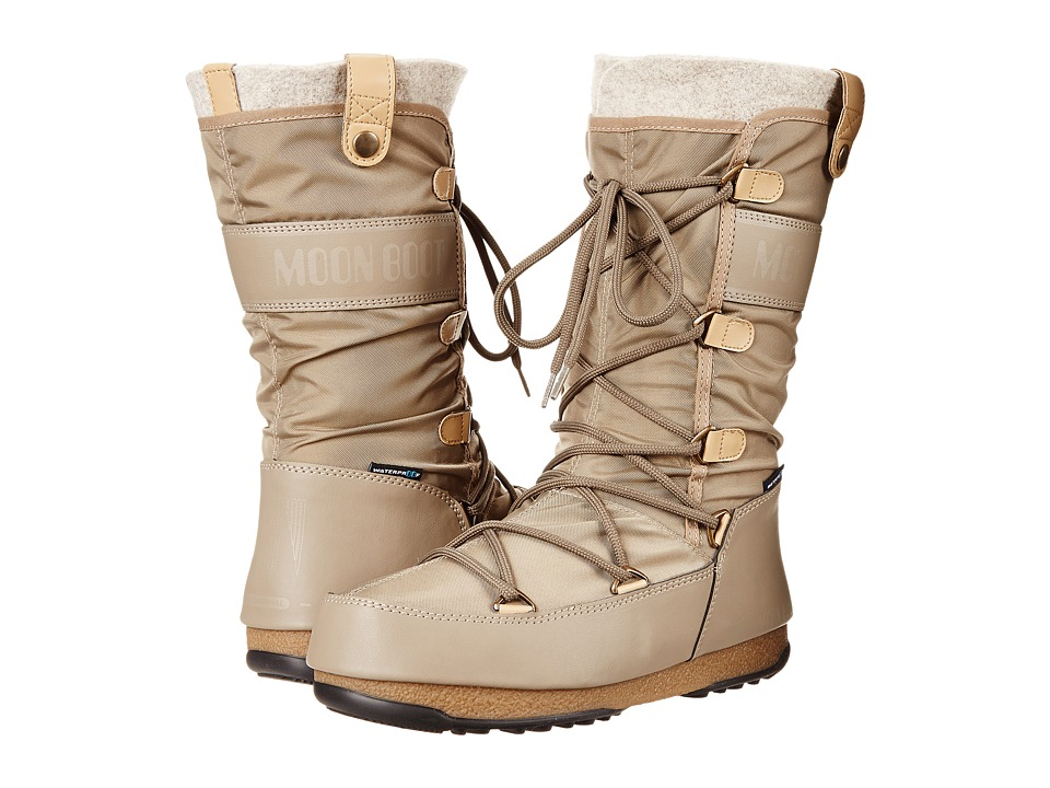 Tecnica Moon Boot Monaco Felt Sand Womens Cold Weather Boots