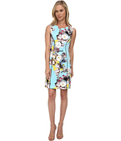 Tahari by ASL Petite - Petite Scuba Printed Sheath Dress