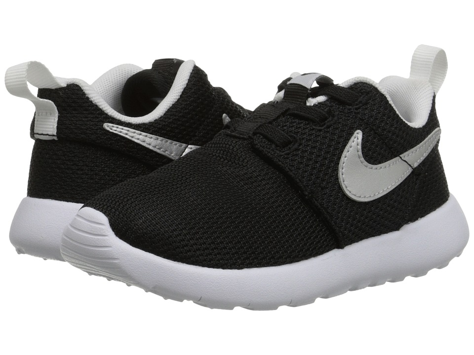 Nike Kids Roshe One (Infant/Toddler) (Black/Metallic Silver/White) Boys Shoes