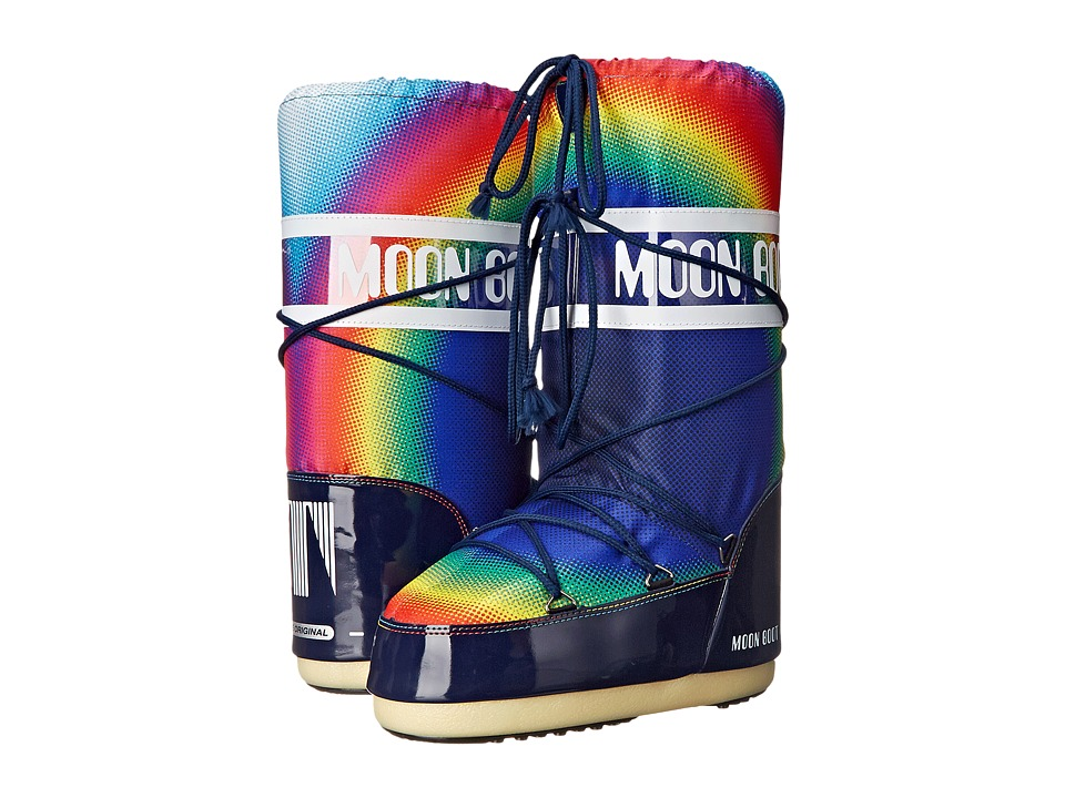 Tecnica Moon Boot(r) Rainbow 2.0 (Blue) Cold Weather Boots