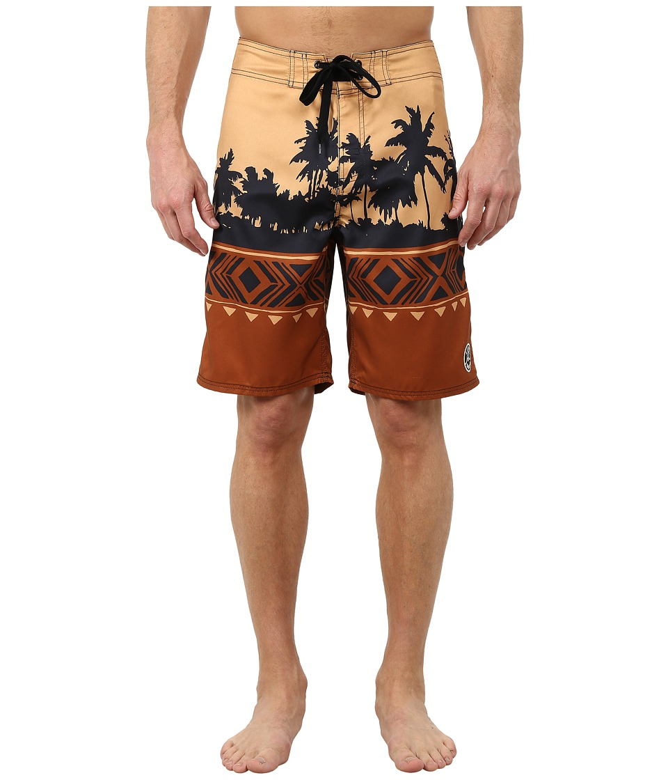 Life is good Bold Coast Boardshorts Rustic Copper Mens Swimwear
