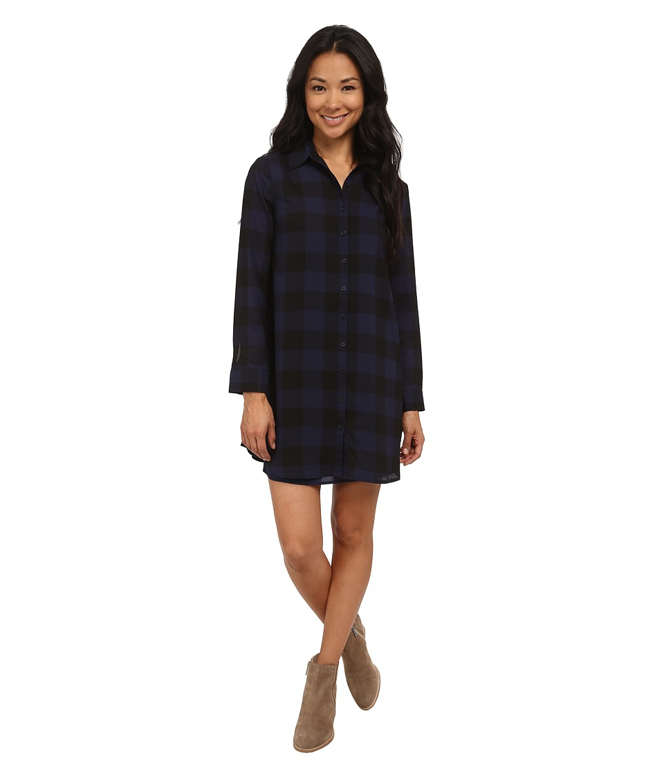 BB Dakota Cotter Buffalo Plaid Dress Oilslick Womens Dress