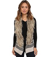 BB Dakota - Jase Pattern Sweater Vest with Faux Fur