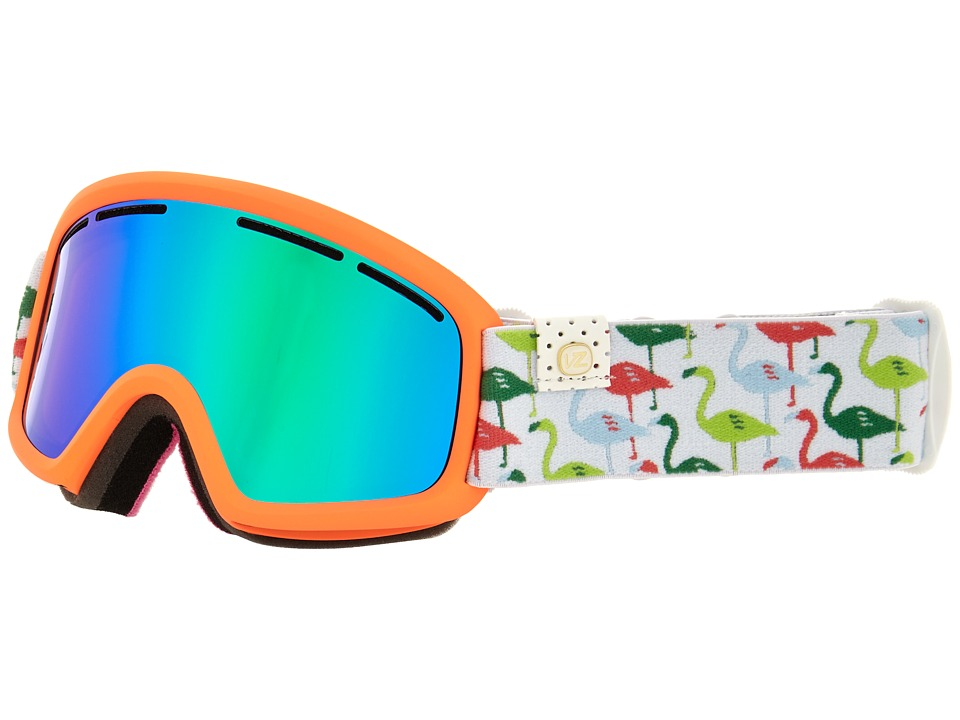 VonZipper Trike Spoonbill Coral/Quasar Chrome Snow Goggles
