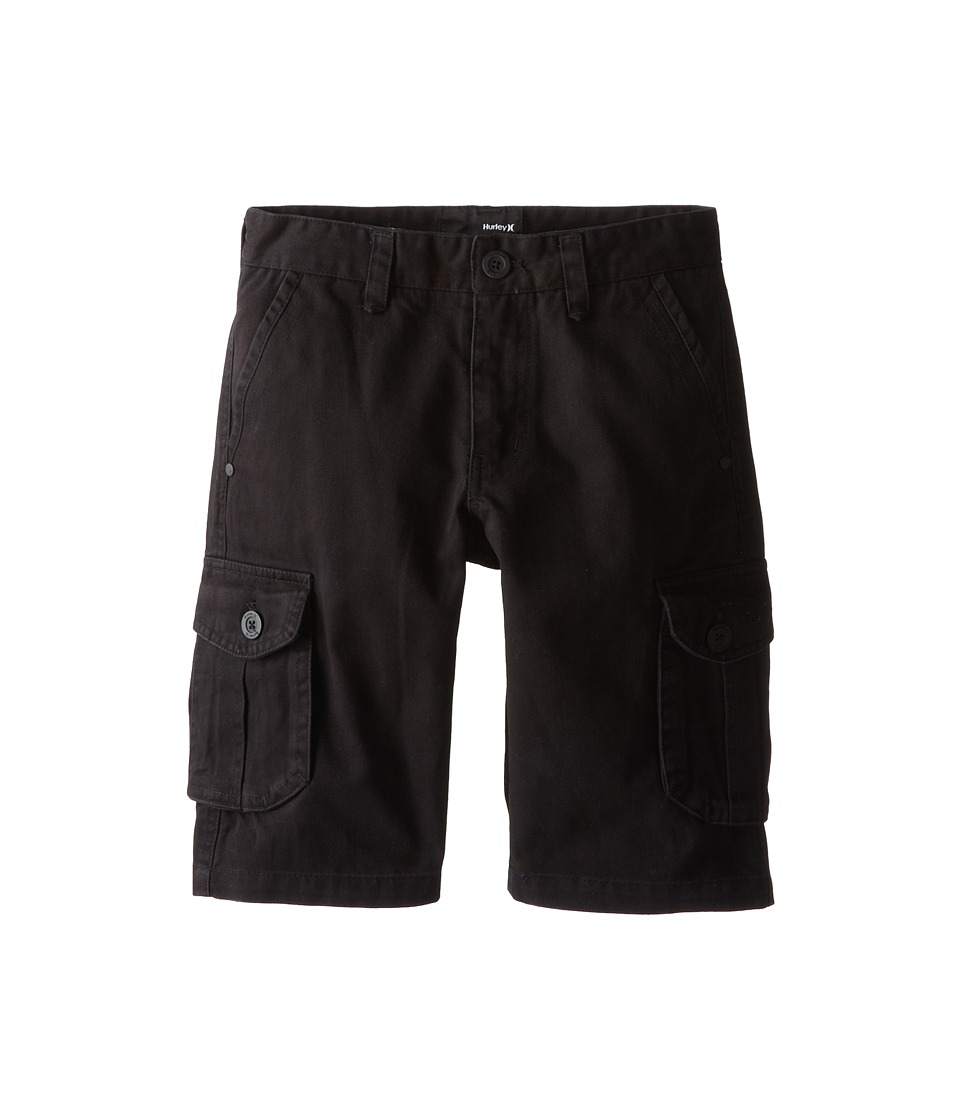 Hurley Kids One Only Cargo Shorts Big Kids Black Boys Shorts
